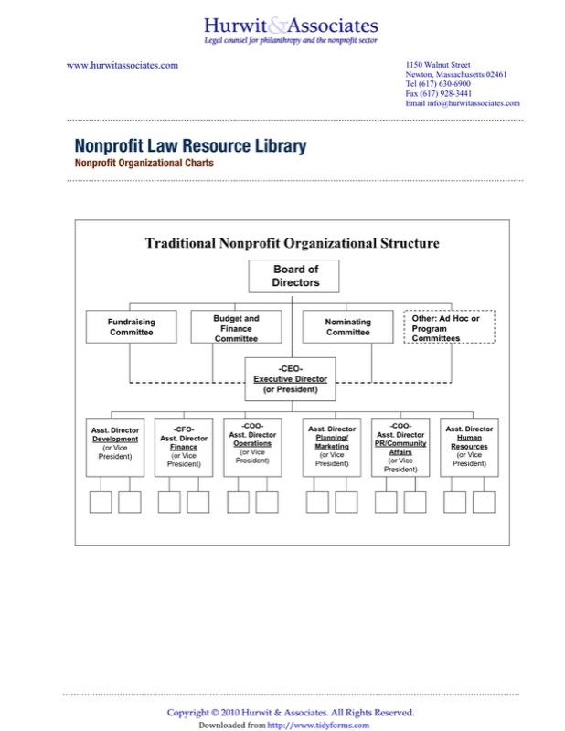 3+ Non-Profit Organizational Chart Templates - Free Templates in DOC